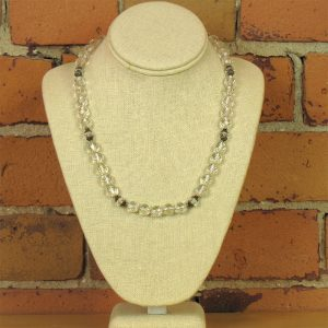 faceted-clear-quartz-18inch-necklace-with-sterling-spacers-and-clasp
